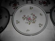 "8 Vtg.1960's Noritake ""Jardine"" 10 1/2"" Dinner Plates Roses w/Platinum Trim"