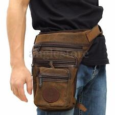Vintage Hiking Travel Canvas Waist Leg Thigh Belt Bag Pack Mens Purse Pouch