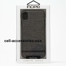 New Incipio Esquire Carnaby Slim Canvas Fabric Case Cover for iPhone XS Max