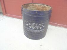 large lard tin wahkonsa packing company fort dodge iowa no lid kettle rendered