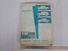 Catalogo originale ricambi carrozzeria 1959 Fiat 1100 103 d h normale e lusso