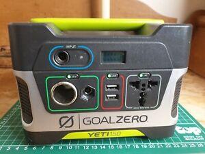 Goal Zero Yeti 150 Power Bank AC Solar Generator DC