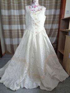 (113)Edles Damen Braut Standesamt Abend Kleid GR: 46