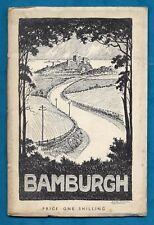 C1939 HISTORY OF BAMBURGH & ST. AIDAN'S CHURCH P/B