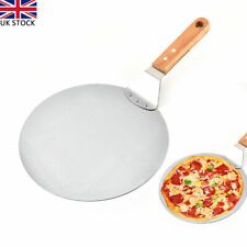 10inch Pizza Peel Wood Handle Baking Paddle Stainless Steel Cake Shovel Tool UK