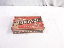 Old (1915?) Cigar Tin ~ Cadillac Can Company Five cent Straight Portage