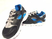 Nike Air Huarache Run TD Trainers Toddlers infant / Baby Shoes Black/Blue/Grey