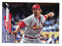 ANDREW MILLER 2020 TOPPS SERIES 1 FATHER'S DAY BLUE PARALLEL #38/50 CARDINALS