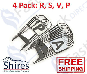 DRESSAGE MARKERS HOOPS | Shires Steel 4 Pack Tread In Arena Menage Letters RSVP
