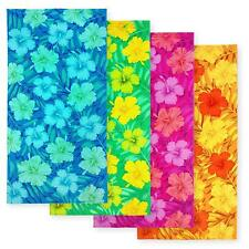 KAUFMAN - HIBISCUS BEACH TOWEL WITH A GROUND LINE - 4 PC PACK 30x60