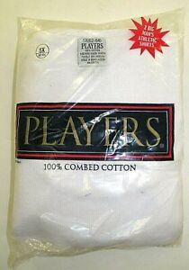 PLAYERS Big Men's White 100% Cotton Ribbed Tank Undershirts 2 Pack 4X-7X/8X