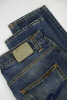 RRP $249 NUDIE GRIM TIM BRIGHT BLUE Men's W28/L32 Stained Faded Jeans 3916_mm