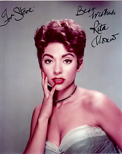 RITA MORENO Hand Signed Photo 8 x 10 Color Authentic Autograph To Steve