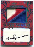 2019-20 Leaf Ultimate Super Swatch Signatures Blue Bobby Rousseau Patch Auto 2/4