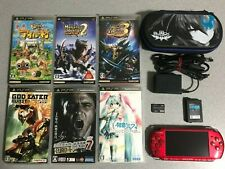 SONY Playstation PSP 3000 Radiant red Console with 6games Japan