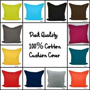 "Décor Sofa Colorful Size 16"" 18"" 20"" Cushion Home Dyed 100% Cover Plain Cotton"