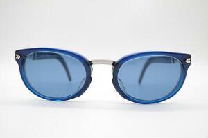Vintage Gaultier Junior Blau Silber oval Sonnenbrille sunglasses Brille