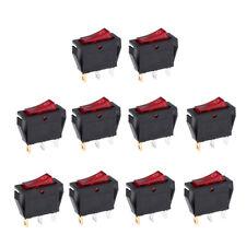 10 pcs Rocker Switch Wipp Taster Druckschalter Kippschalter 250v 10A Rot