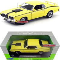 1:18 Welly Mercury Cougar Eliminator 1970 Yellow/Noir