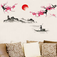 Charm Chinese Style Flower Tree Living Room Decor Wall Sticker Self-adhesive PVC