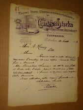 1913 letterhead Charles deSterke Sanitaire Artikelen Rotterdam Netherlands