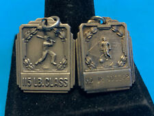 Old Vtg Collectible Sterling Old Sports Medals MD Jr Soccer And 115 Lb Class