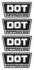 DOT Approved Motorcycle Helmet Stickers | Decals | D.O.T. Black & White (4-pack)