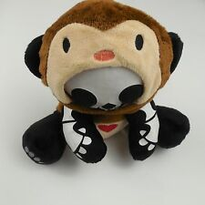 """Skelanimal 8"""" Plush Monkey Suit Costume Skeleton Monkey Stuffed Animal Brown GUC"""