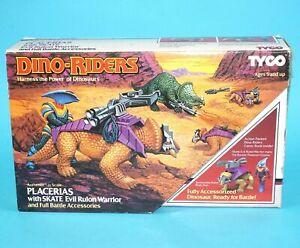DINO RIDERS PLACERIAS & SKATE BOXED US BOX 1988 TYCO HTF