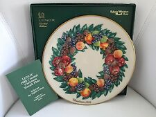 Lenox Colonial Christmas Delaware 1998 Collector's Wreath Plate W/ Box
