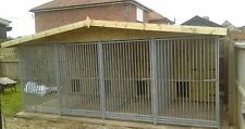 Dog kennel and run Deluxe 4 bay 16 x 10 ft * Delivery available