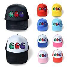 Among Us Kids Boys Girls School Baseball Cap Youtuber Adjustable Snapback Hats