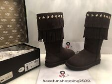 Women UGG Jimmy Choo Sora Chocolate Boots Size 7 WITH ORIGINAL BOX