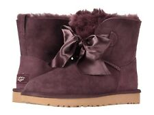Women's Shoes UGG GITA Bow Mini Twinface Boots 1098360 PORT *New*