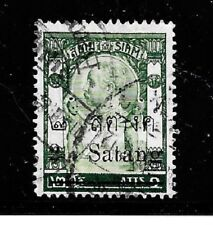 Thailand Stamps- Scott # 130/A15-2s on 2a-Canc/Lh-1909-Surcharge d- Og