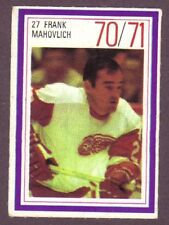 1970-71 Esso Hockey Stamp Frank Mahovlich Det Red Wings