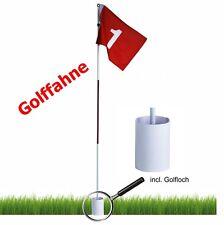 Golf-Fahne Nr. 1 - mit Fahnenstange und Loch | Golfflagge | Golf Flag | Fahne
