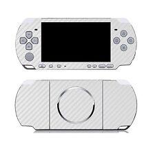 White Carbon Fiber Vinyl Decal Skin Sticker Cover for Sony PSP 3000