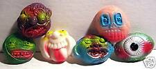 6 Old Ghoulie Monster Head Gumball Machine Vending Toy
