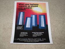Apogee Ad, 1987, Duetta, Diva, Signature, 1 pg, RARE!