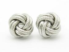 Platinum Sterling Silver Love Knot Stud Earring Gift