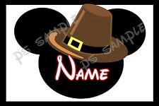 4x6 Disney Cruise Door Magnet Thanksgiving PILGRIM MINNIE BROWN HAT Personalized