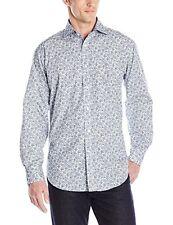 THOMAS Dean SHIRT Paisley XL Mens BLUE White MULTICOLOR Cotton FLORAL Poplin SZ*
