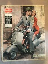 RIVISTA,NOVELLE FILM 1957,VESPA PIAGGIO MOTO,GENE KELLY,LEDA GLORIA FIORE