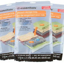 3 Lots New Essentials Large Vacuum Storage Bag E Saver 17 5 In X 27