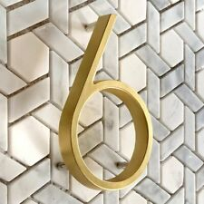 Brass Outdoor House Number Sign / Door Number Plaque / Building Number Signage
