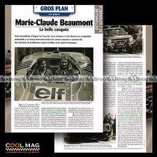 #hvf.84.07 MARIE-CLAUDE BEAUMONT Photo LELLA LOMBARDI ALPINE A441 Car Fiche Auto