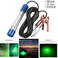 Squid Prawns Lure 180 LED 12V-24V Fish Finder Lamp Underwater Fishing Light-.