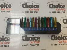 """Sealey AK282D Multi-Coloured Socket Set 12pc 1/4""""Sq Drive 6pt Deep WallDrive® Me"""