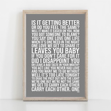 More details for u2 one song lyrics poster print wall art